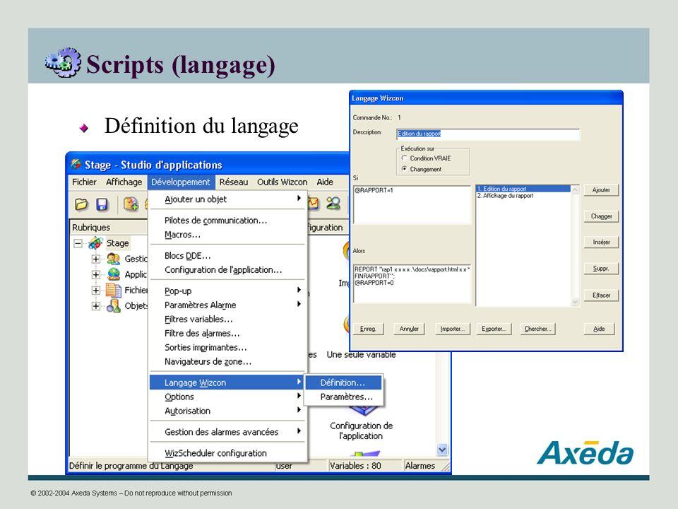 Scripts (langage) Définition du langage