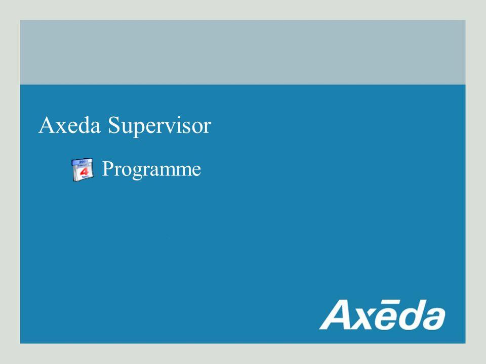Programme Axeda Supervisor