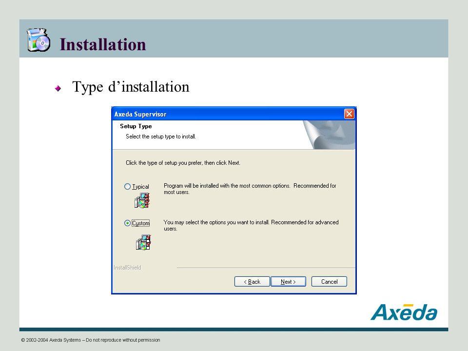 Installation Type dinstallation
