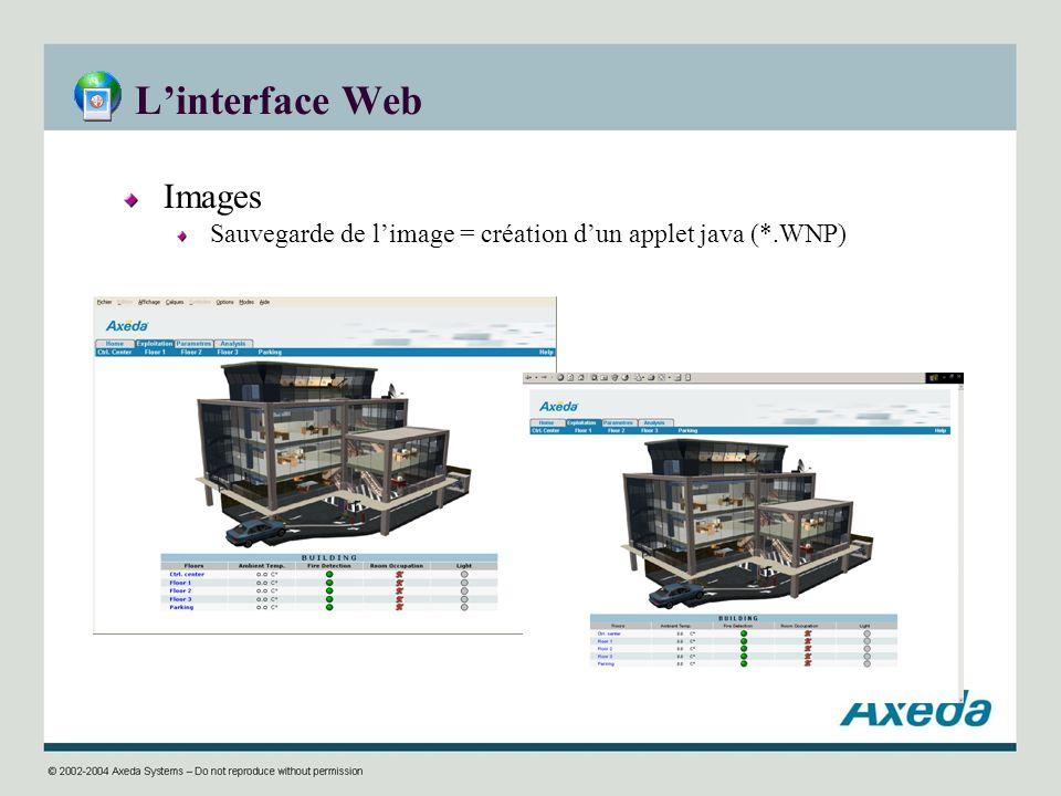 Linterface Web Images Sauvegarde de limage = création dun applet java (*.WNP)