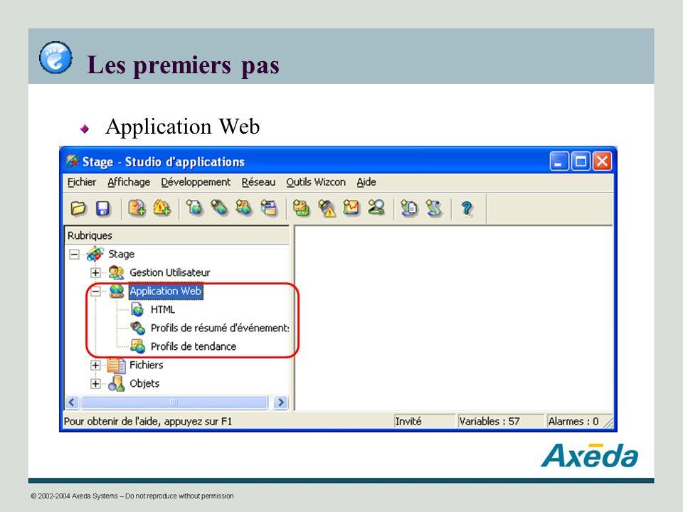 Les premiers pas Application Web