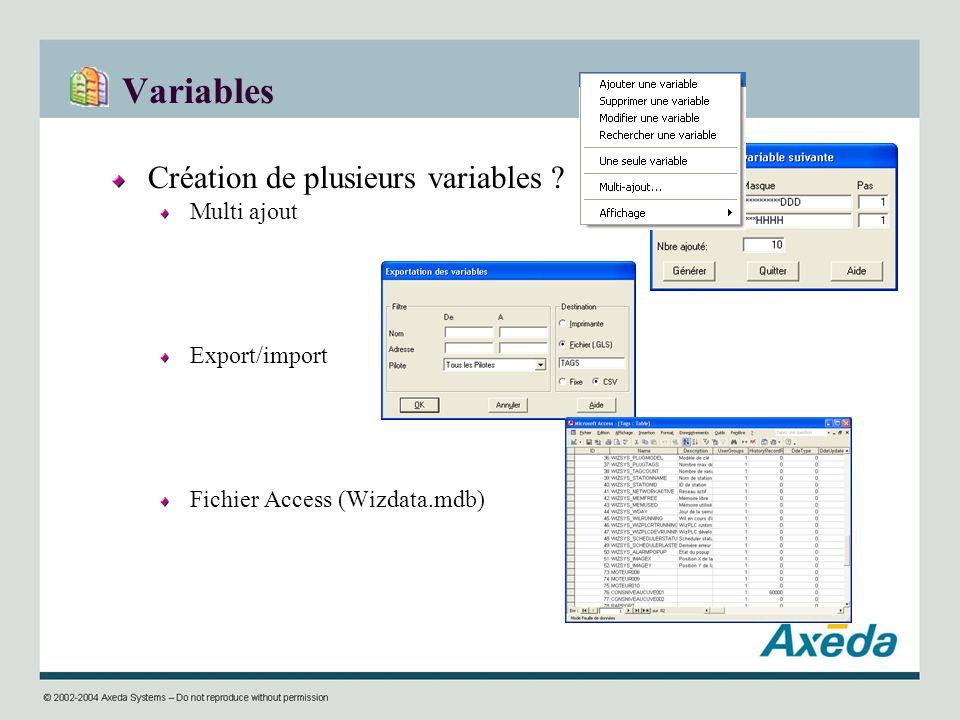 Variables Création de plusieurs variables ? Multi ajout Export/import Fichier Access (Wizdata.mdb)