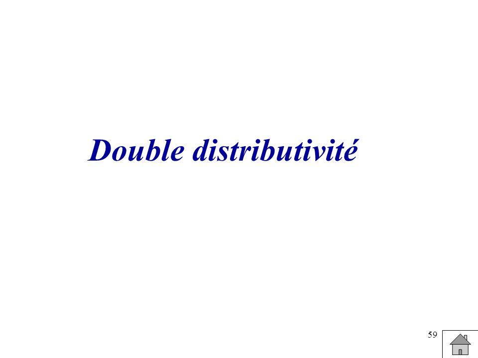 59 Double distributivité