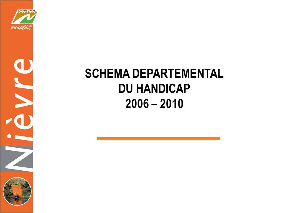 Les Schémas du Handicap dans la Nièvre 1996 = Signature du 1er Schéma Départemental du Handicap 2005 = Élaboration du Second Schéma (2006– 2010)