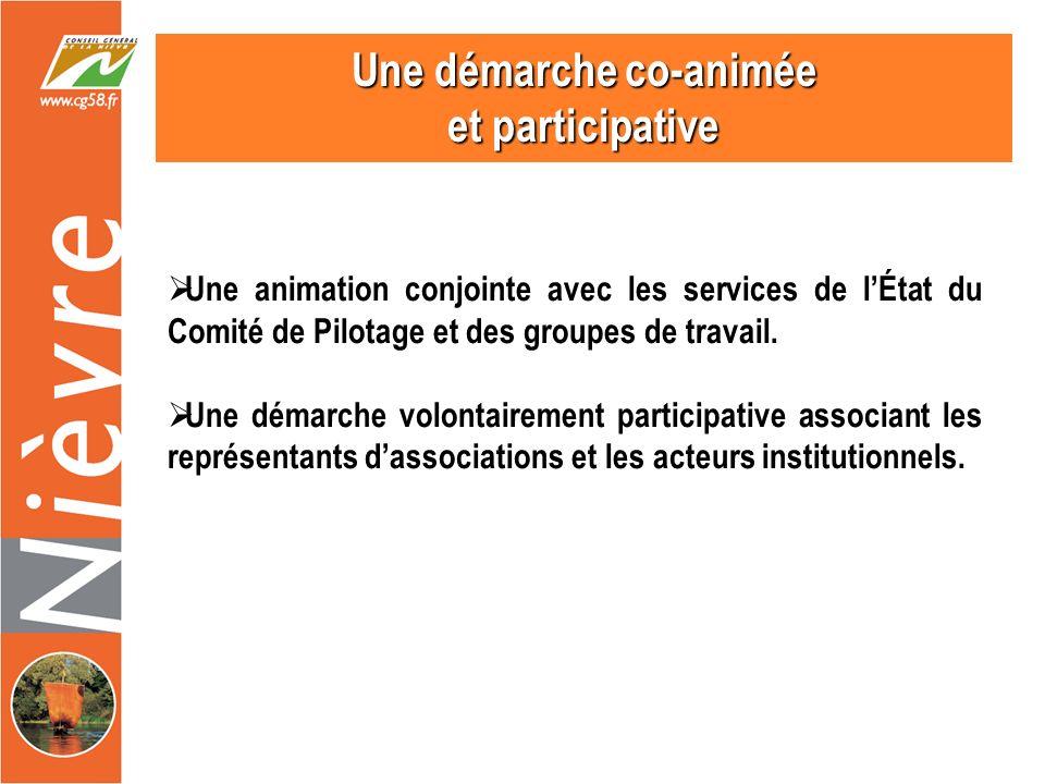 Une démarche co-animée et participative Une animation conjointe avec les services de lÉtat du Comité de Pilotage et des groupes de travail.