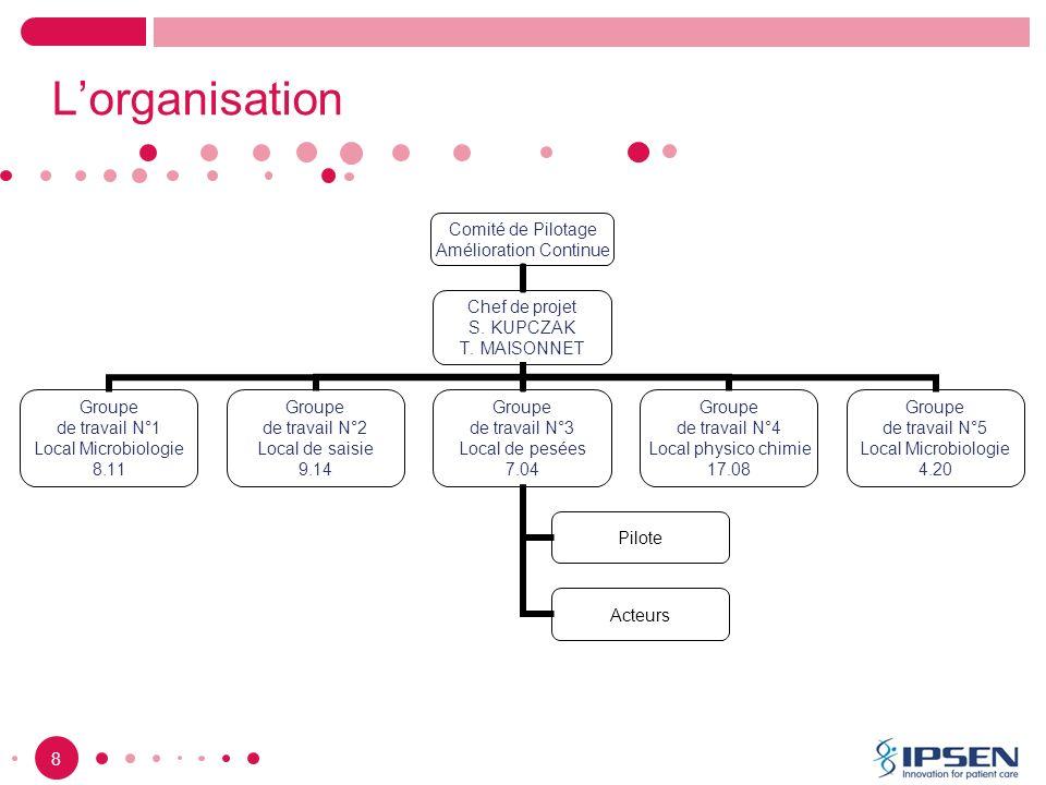 9 Lorganisation Comité de Pilotage Amélioration Continue Chef de projet S.
