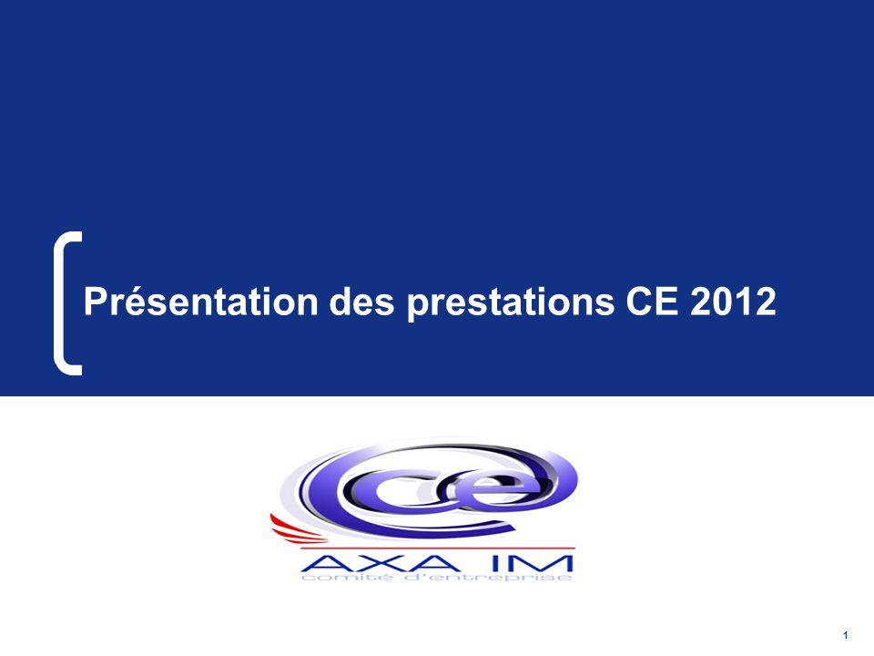 1 Présentation des prestations CE 2012