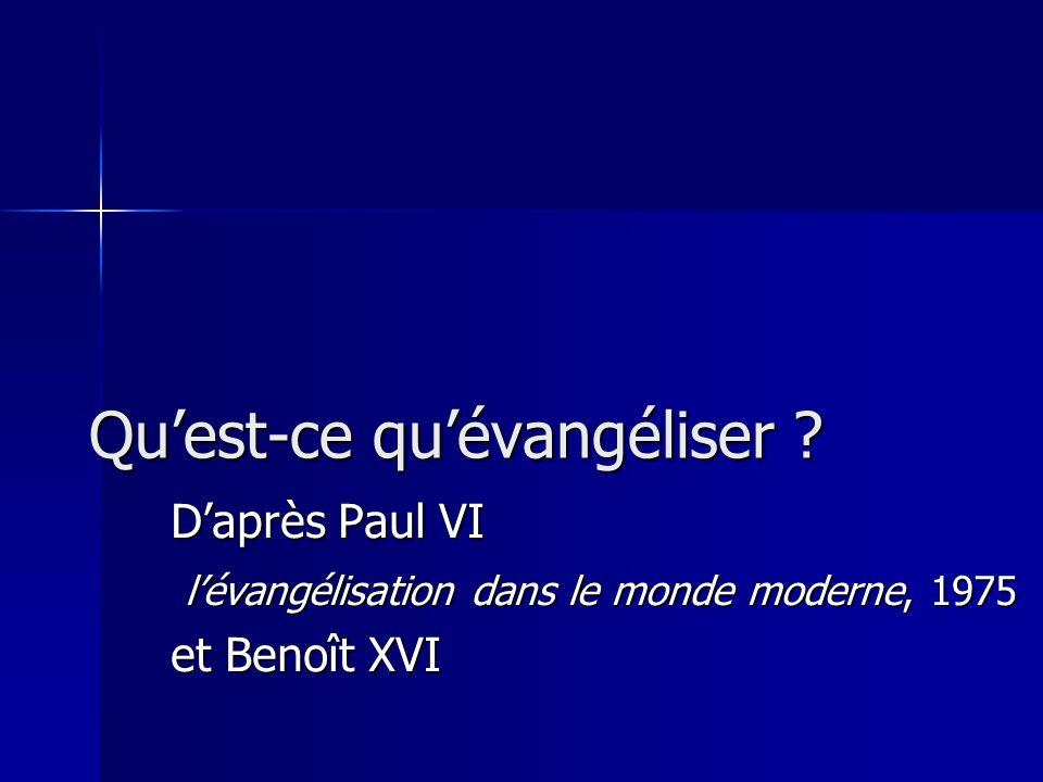 Quest-ce quévangéliser .