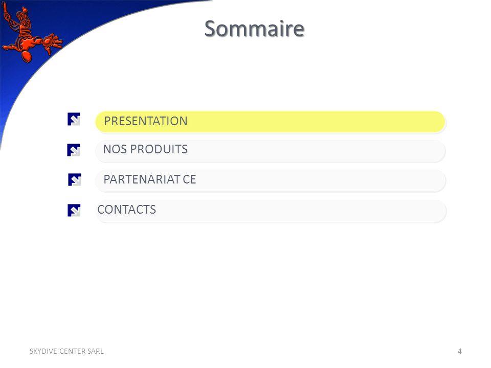 Sommaire 4 PARTENARIAT CE PRESENTATION NOS PRODUITS CONTACTS