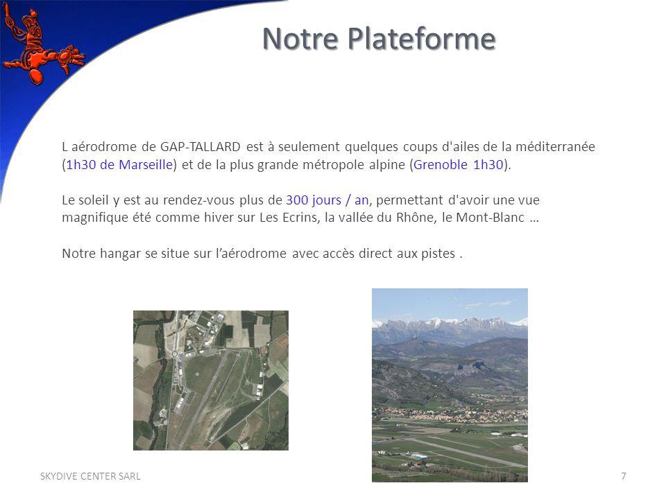 L aérodrome de GAP-TALLARD est à seulement quelques coups d'ailes de la méditerranée (1h30 de Marseille) et de la plus grande métropole alpine (Grenob