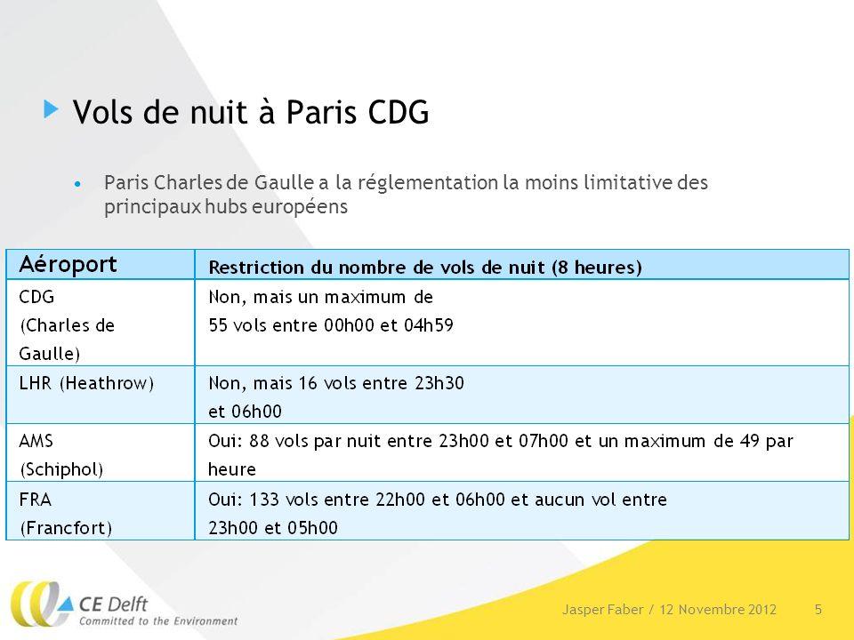 Vols de nuit à Paris CDG Paris Charles de Gaulle a la réglementation la moins limitative des principaux hubs européens 5Jasper Faber / 12 Novembre 201
