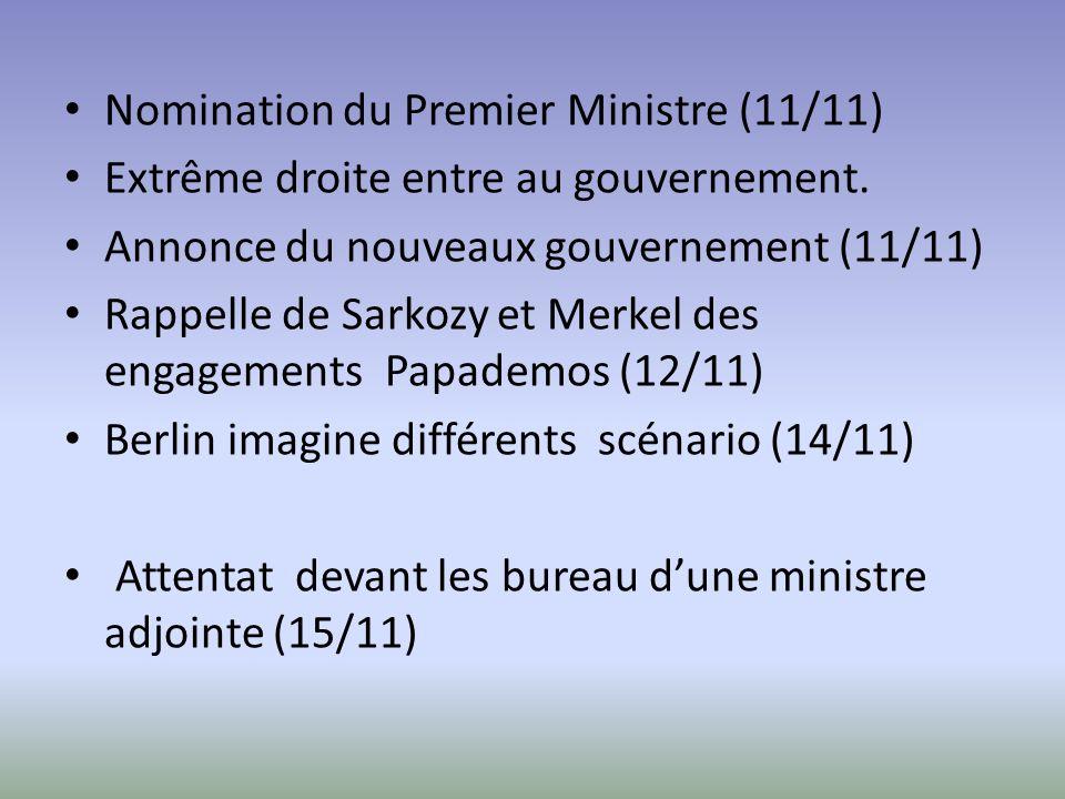 Nomination du Premier Ministre (11/11) Extrême droite entre au gouvernement.