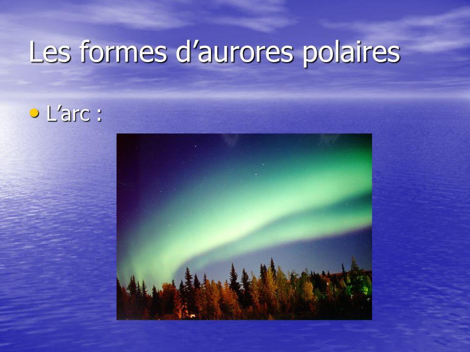 Les formes daurores polaires Larc : Larc :