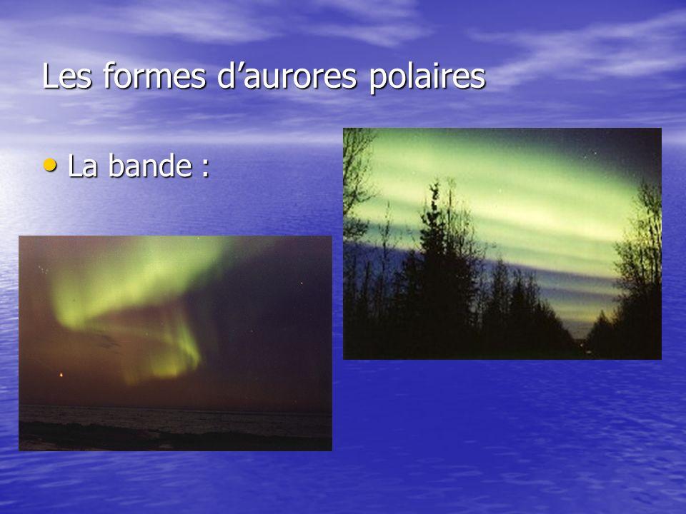 Les formes daurores polaires La bande : La bande :