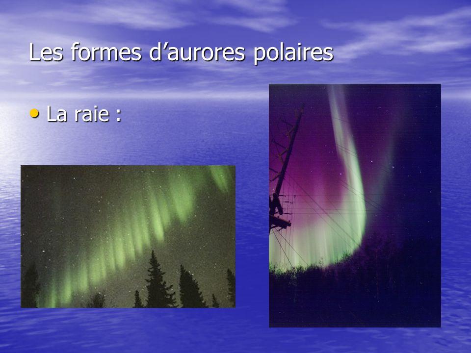 Les formes daurores polaires La raie : La raie :