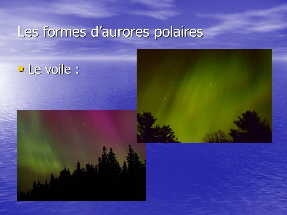 Les formes daurores polaires Le voile : Le voile :