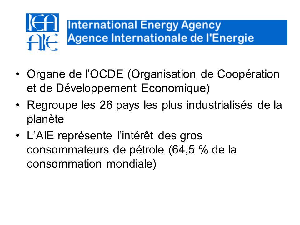 Organe de lOCDE (Organisation de Coopération et de Développement Economique) Regroupe les 26 pays les plus industrialisés de la planète LAIE représent