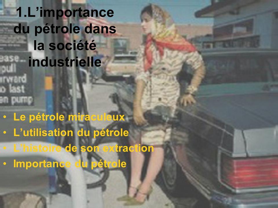 Le pétrole miraculeux Du latin « Petroleum » : « huile de pierre » Cest un Hydrocarbure ( H et C ) Intensité énergétique exceptionnelle Facilement transportable et stockable Facilement transformable en toutes sortes de produits Facilement exploitable (cest de moins en moins vrai) Avec un litre dessence, votre voiture fait 20 km : imaginez lénergie que des être humains devraient déployer pour faire avancer une voiture de 1 tonne sur 20 km.