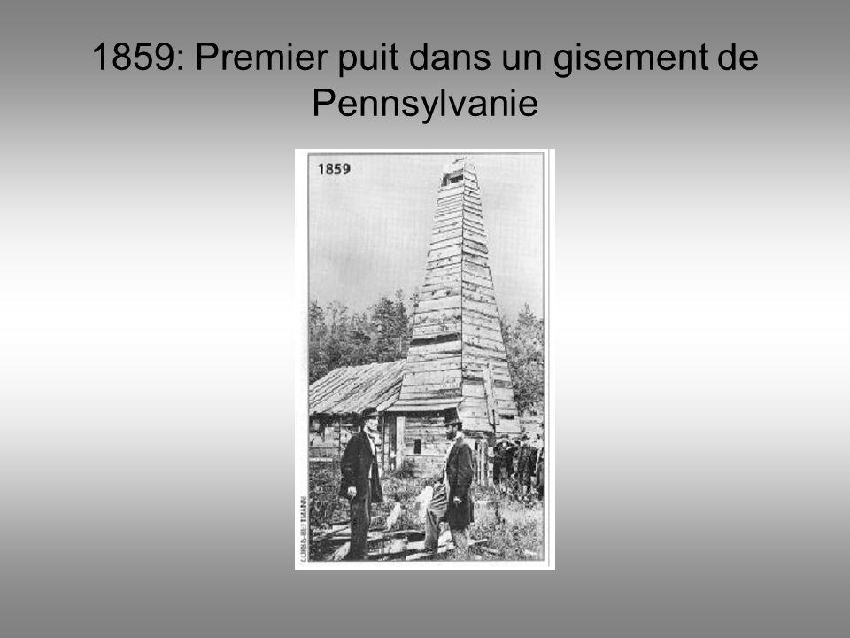 1920: forêt de puits dans le gisement de Los Angeles