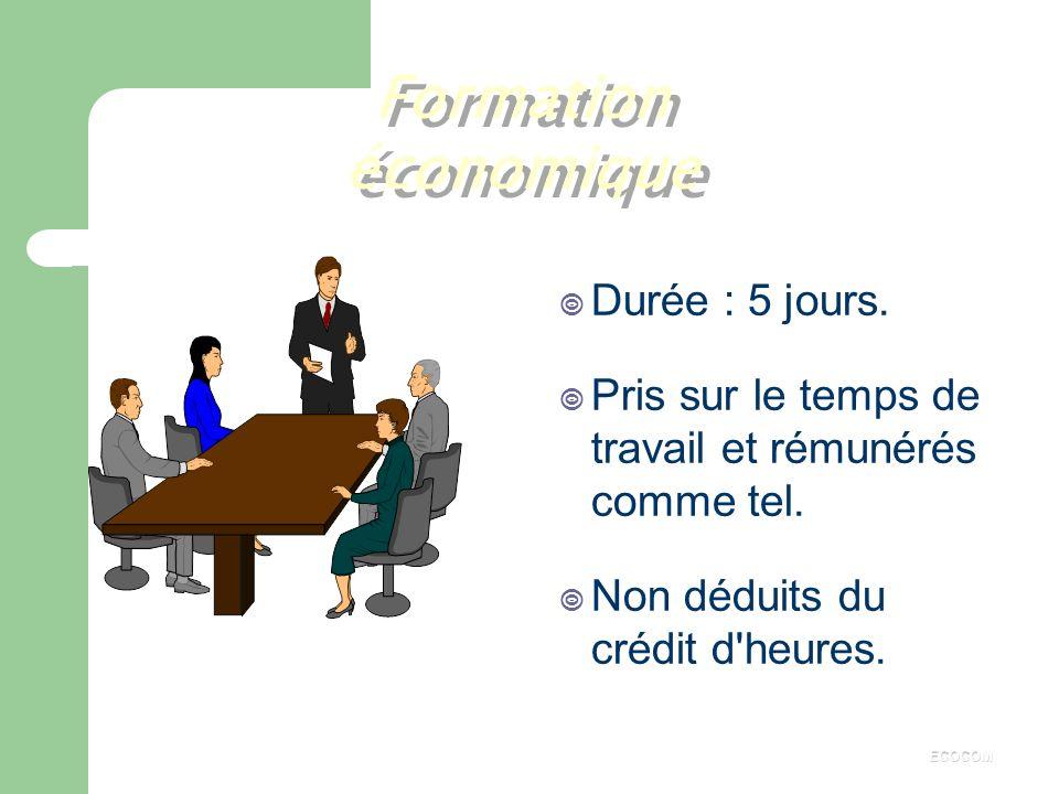 o Le crédit d'heures est attribué : aux membres titulaires du comité, aux représentants syndicaux auprès du C.E. ( si l'entreprise dépasse 500 salarié