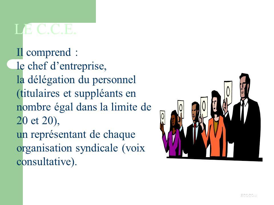 LES EXPERTS Les experts comptables ou sociétés dexpertise. Les experts en technologie. Les autres experts. ECOCOM