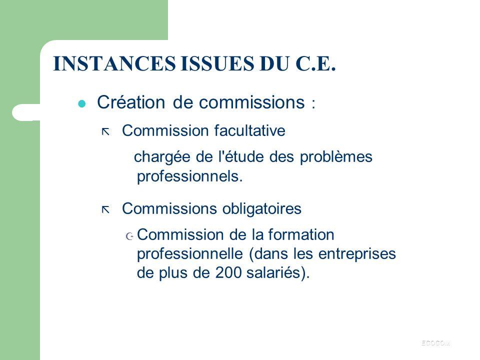 REDRESSEMENT JUDICIAIRE La loi prévoit la La loi prévoit la consultation, consultation, l'information et l'information et l'audition du C.E. l'auditio