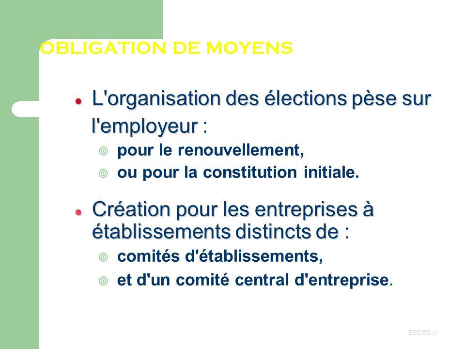 Obligation de constitution Le C.E. est obligatoire dans les entreprises d'au moins 50 salariés : ¥ au sein du secteur privé (SA, SARL, SNC, Associatio