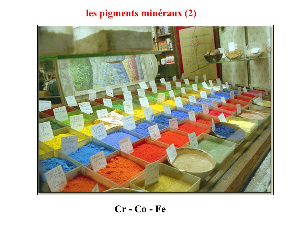 Pigments à base doxyde de chrome