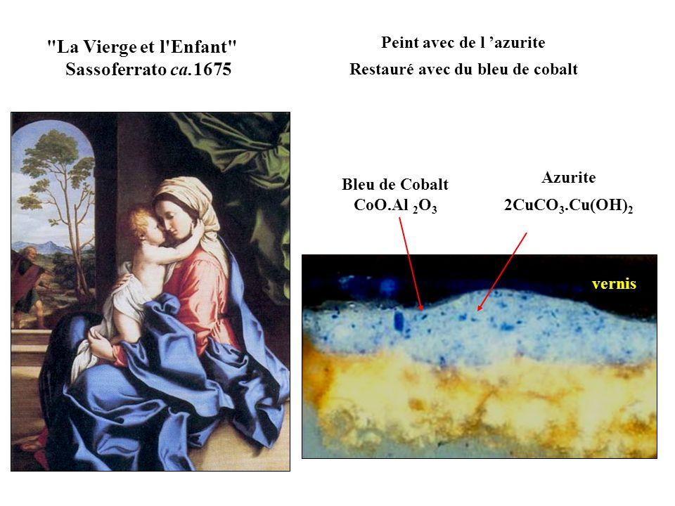 aluminosilicate de sodium : Na 8 Al 6 Si 6 O 24 (S, SO 4, Cl) x Bleu Outremer - Lapis Lazuli Bleu outremer profond dû à des ions moléculaires S 3 -