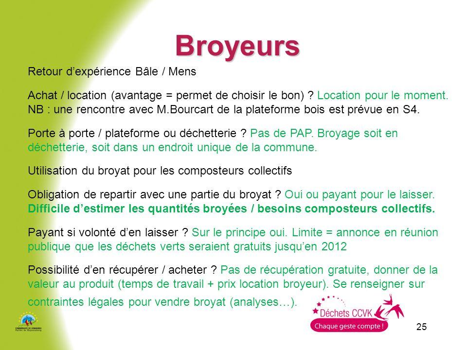 25 Broyeurs Retour dexpérience Bâle / Mens Achat / location (avantage = permet de choisir le bon) .