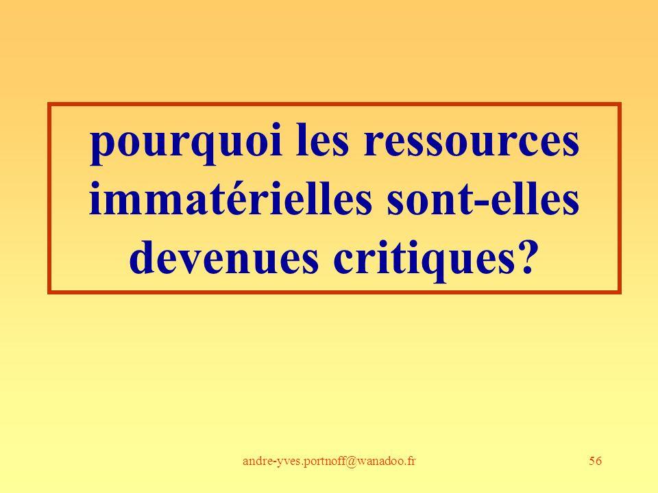 andre-yves.portnoff@wanadoo.fr56 pourquoi les ressources immatérielles sont-elles devenues critiques?