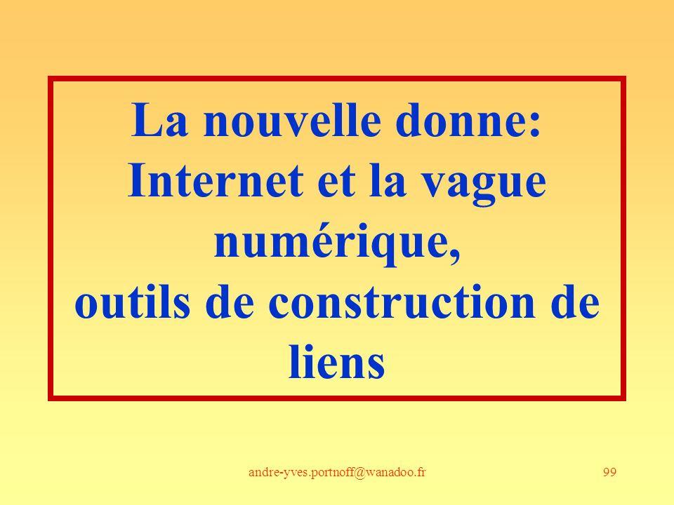 andre-yves.portnoff@wanadoo.fr99 La nouvelle donne: Internet et la vague numérique, outils de construction de liens