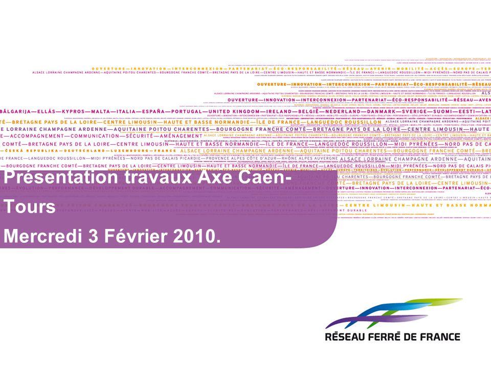 2 Travaux structurant en Basse Normandie en 2010 SR Lisieux – Lison (26 M) : Interceptions de 8h30 de jour avec passage IPCS + 6h de nuit en simultanée SR Lison – Valognes (5 M) : Fermeture de la ligne pendant 1 semaine (Lu à Ve) pour tx ppx RB+RT Dreux – LAigle (2,7 M) : 8h30 de nuit pendant 9 semaines PRA des Forges (1,4 M) : 35h dinterception pendant le we de la toussaint (+ tx connexes) PRA de la Sélune (1,4 M) : De avril à oct en 6h de jour en simultanée sauf lété, coupure des tx de 10 minutes à la mi-journée PRO RN174 : 5 à 8h dinterception de nuit pour le lançage du PRO pendant sept/oct