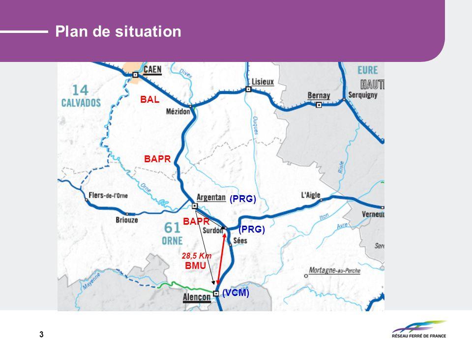 3 Plan de situation 28,5 Km (PRG) BAPR BMU (VCM) BAPR BAL