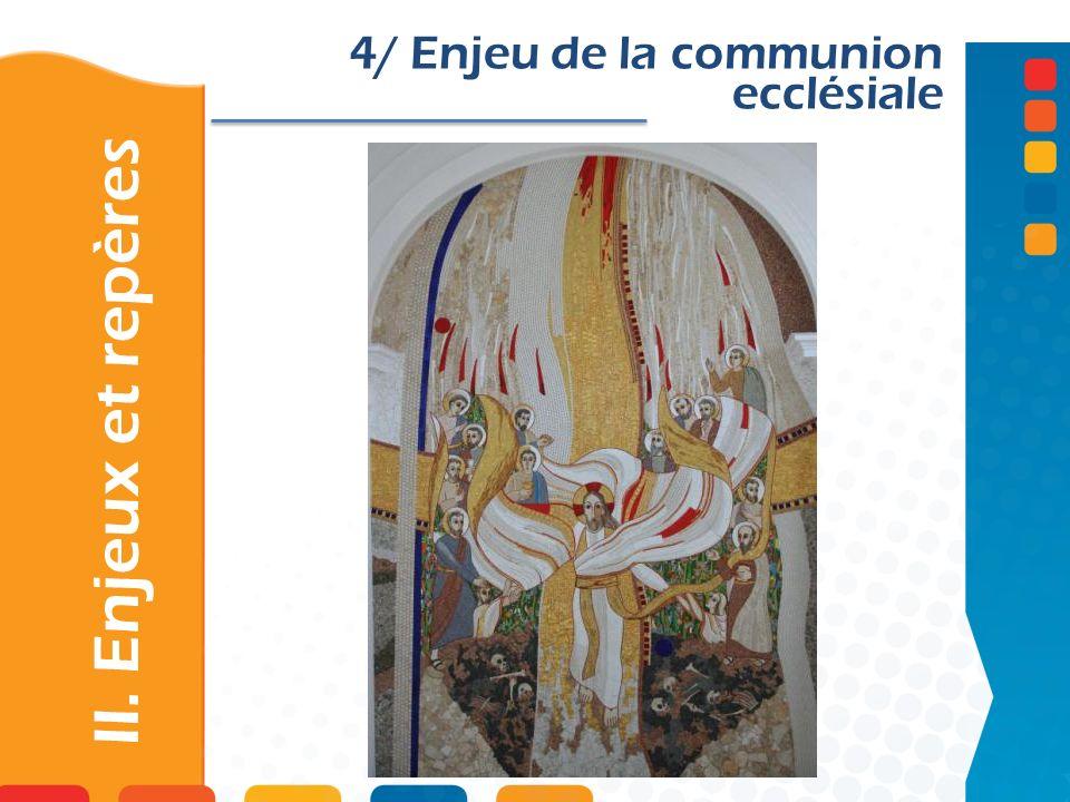 II. Enjeux et repères 4/ Enjeu de la communion ecclésiale