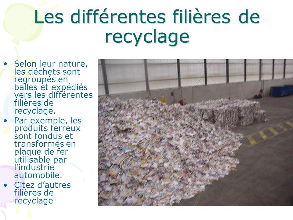 Le recyclage des déchets Les déchets arrivent par camion. Combien de tonnes par an?