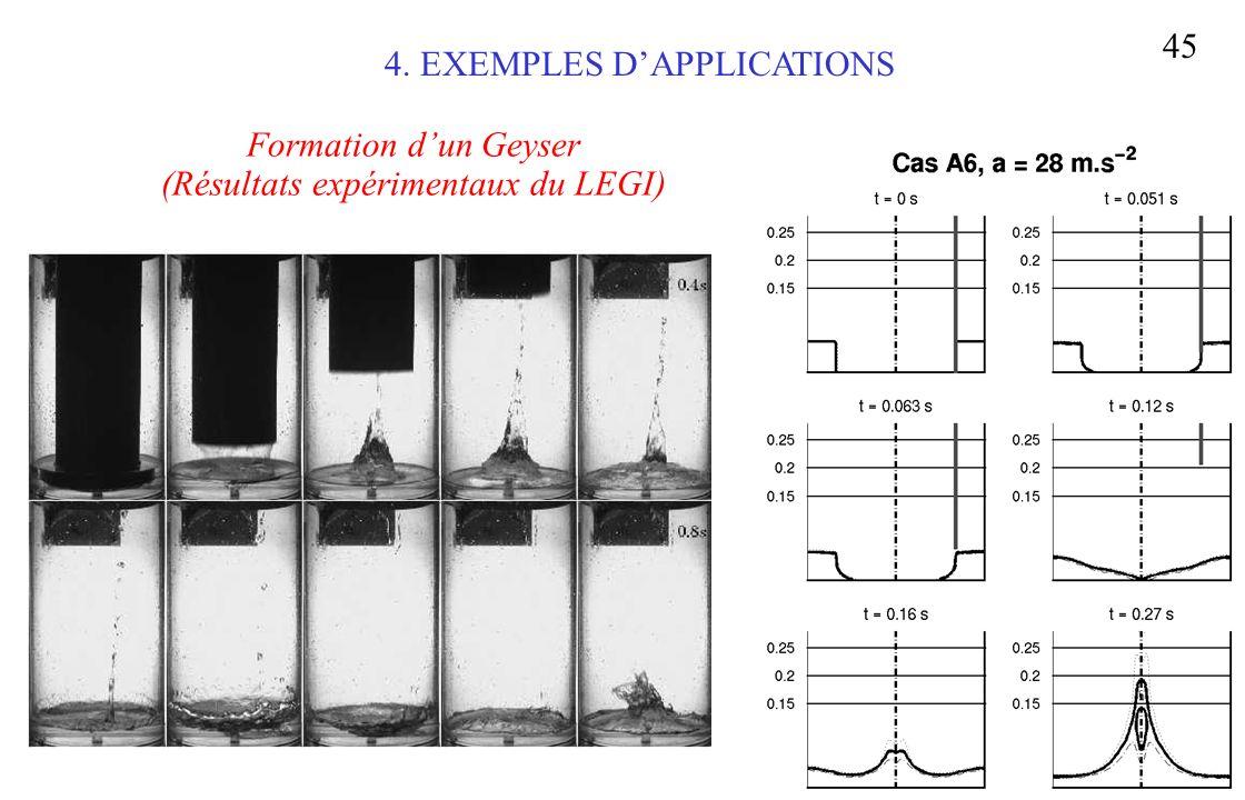 Séminaire CEA-Saclay 15/01/04 45 Formation dun Geyser (Résultats expérimentaux du LEGI) 4. EXEMPLES DAPPLICATIONS