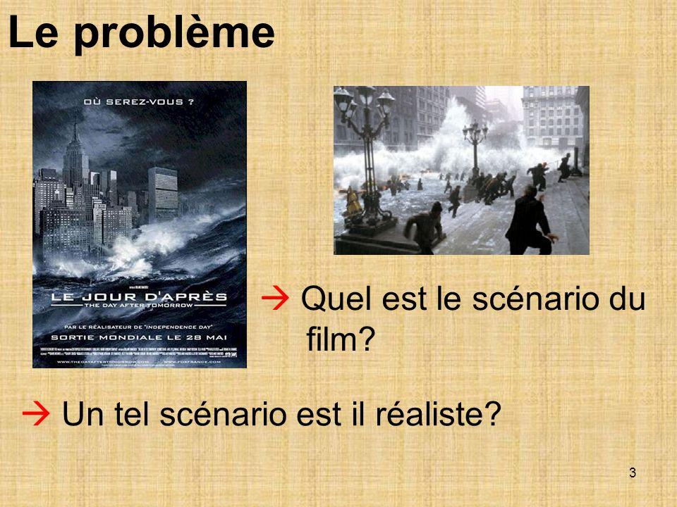 3 Le problème Quel est le scénario du film? Un tel scénario est il réaliste?