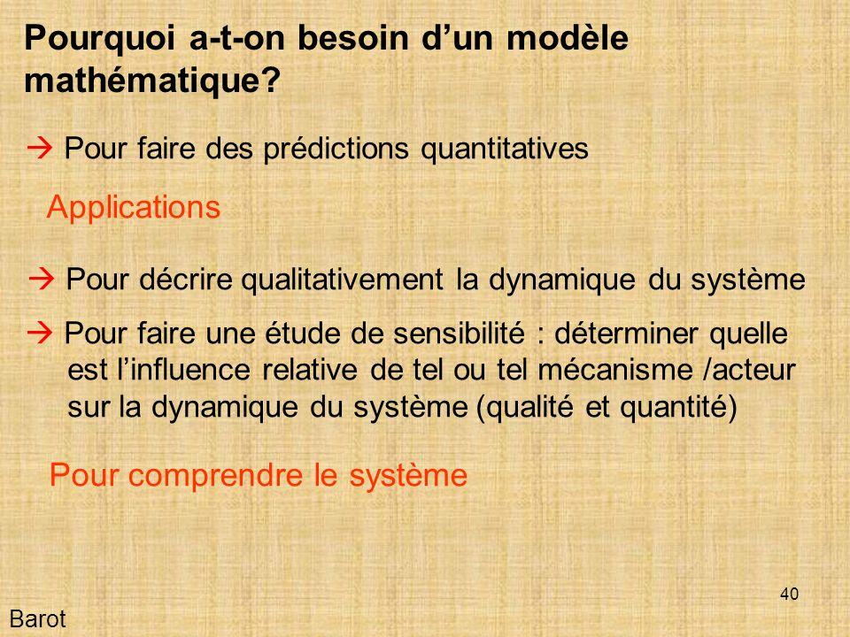 40 Barot Pourquoi a-t-on besoin dun modèle mathématique.