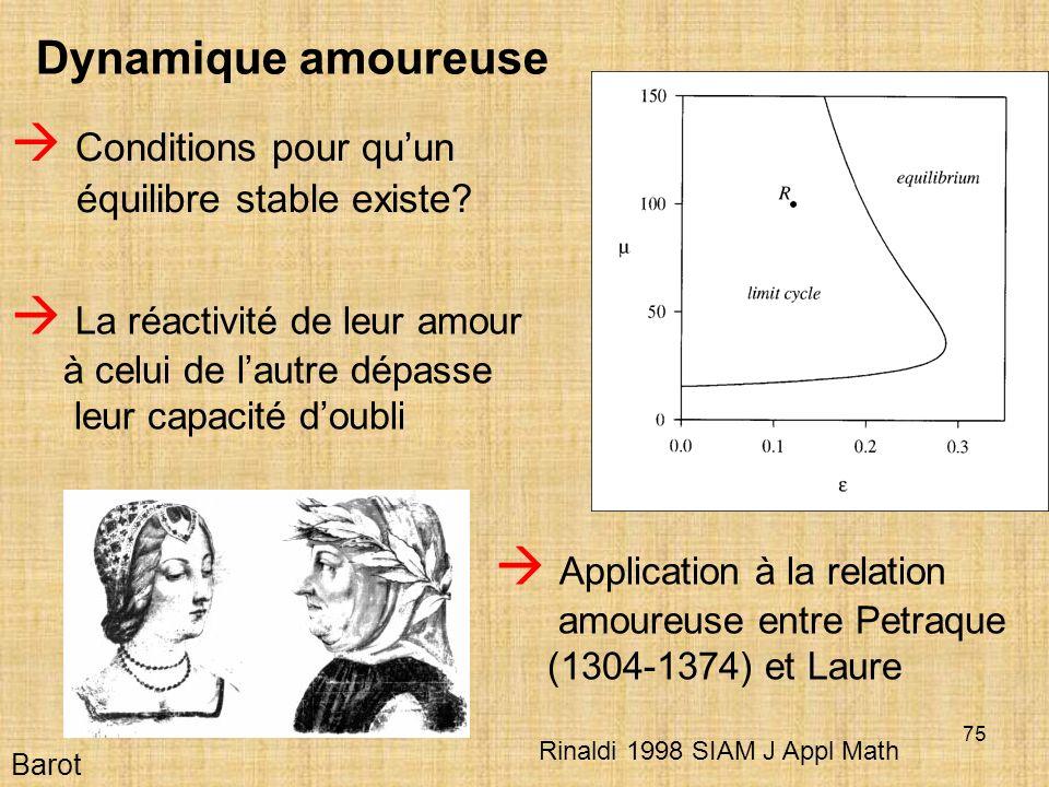 75 Barot Dynamique amoureuse Conditions pour quun équilibre stable existe.