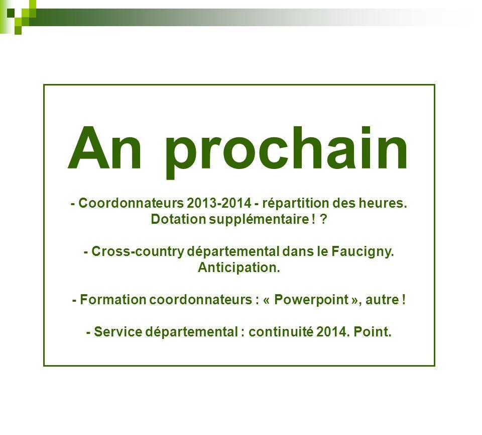 An prochain - Coordonnateurs 2013-2014 - répartition des heures.