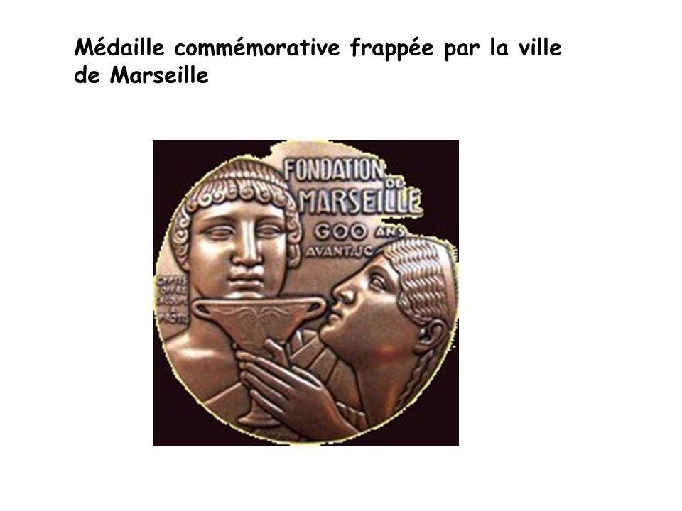 Médaille commémorative frappée par la ville de Marseille