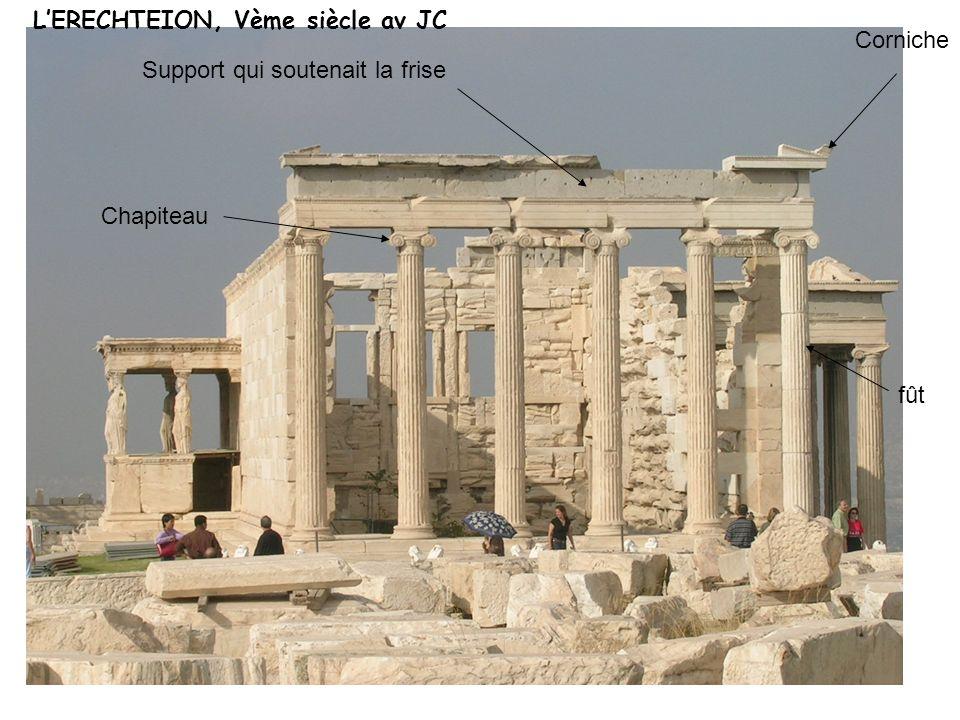 Chapiteau fût Corniche Support qui soutenait la frise LERECHTEION, Vème siècle av JC