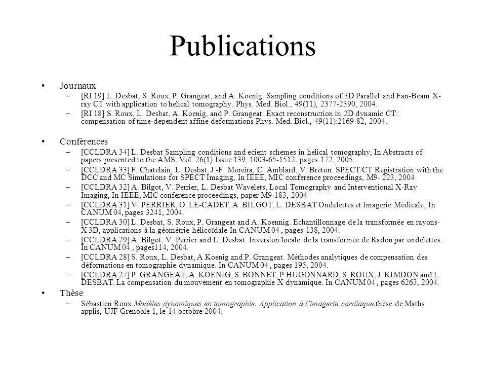 Perspectives année 3 SPECT / CT et correction du diffusé –Collaboration V.