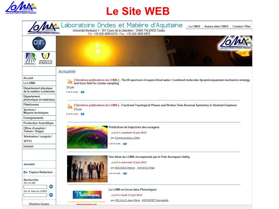 Le Site WEB