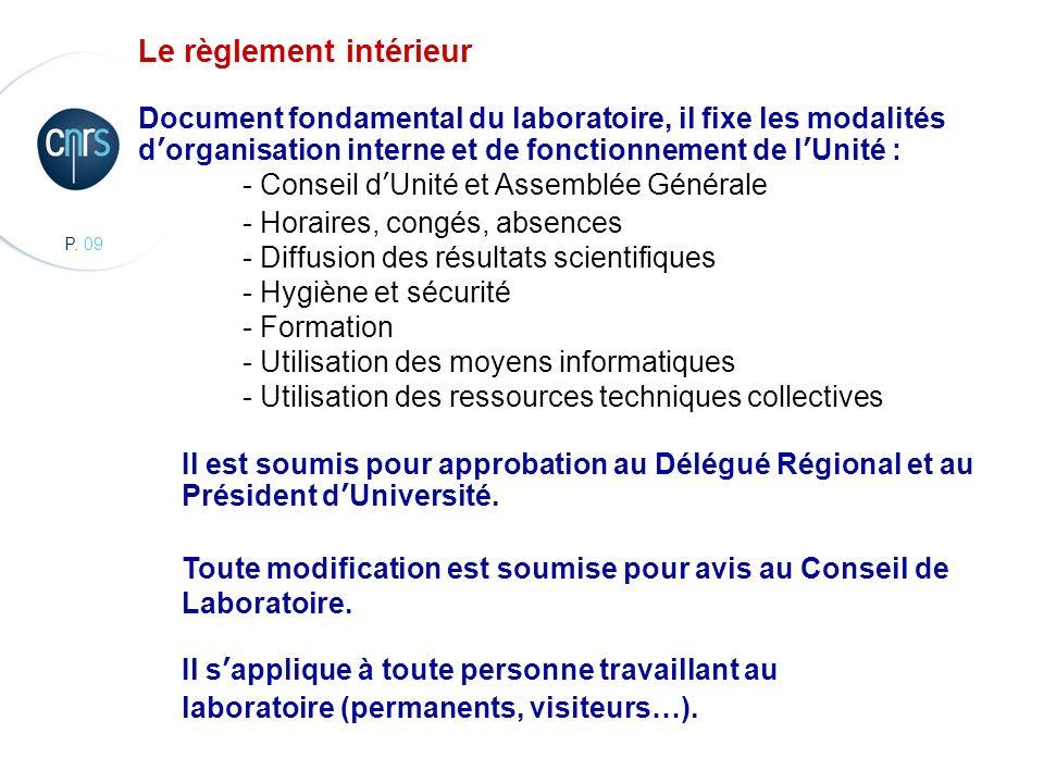 CBMN, Chimie et Biologie des Membranes et des Nanoobjets Le règlement intérieur Document fondamental du laboratoire, il fixe les modalités dorganisati