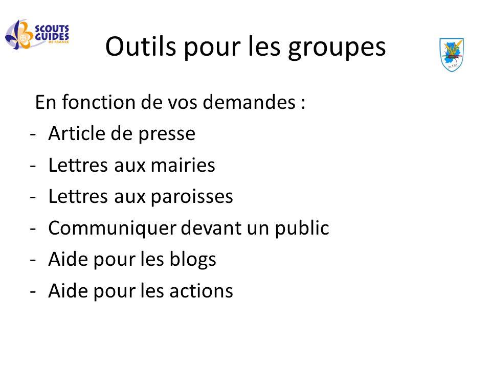 En fonction de vos demandes : -Article de presse -Lettres aux mairies -Lettres aux paroisses -Communiquer devant un public -Aide pour les blogs -Aide