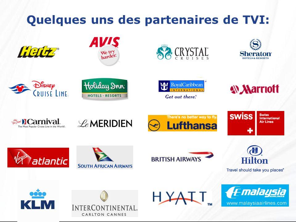 Quelques uns des partenaires de TVI: