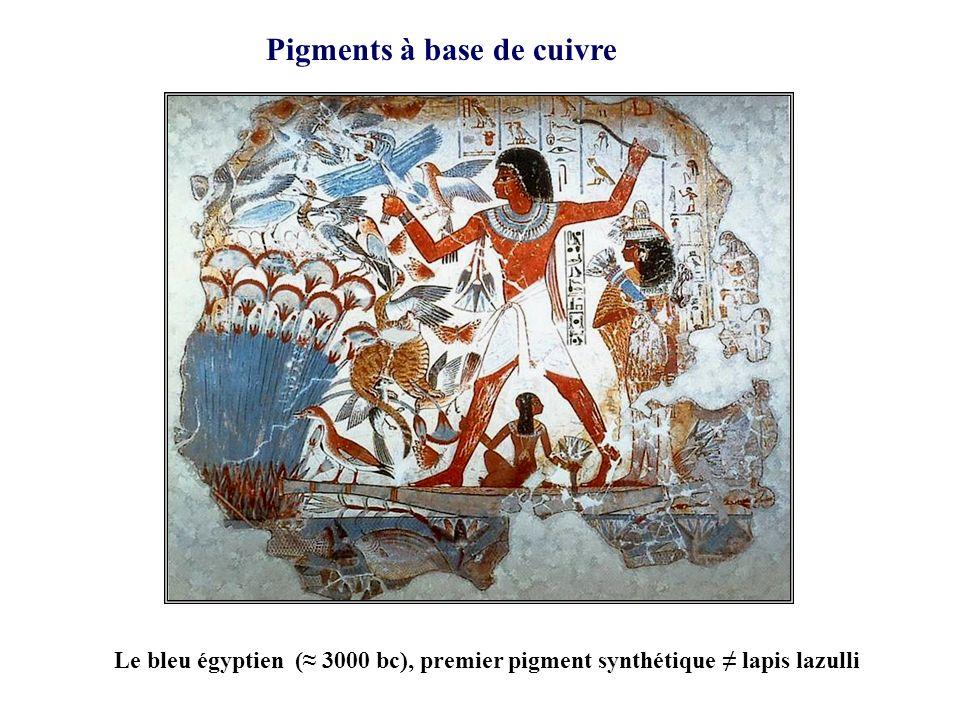 Pigments à base de cuivre Le bleu égyptien ( 3000 bc), premier pigment synthétique lapis lazulli