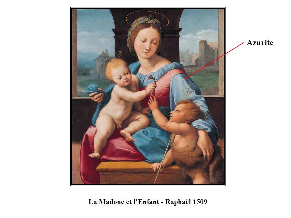 La Madone et l'Enfant - Raphaël 1509 Azurite